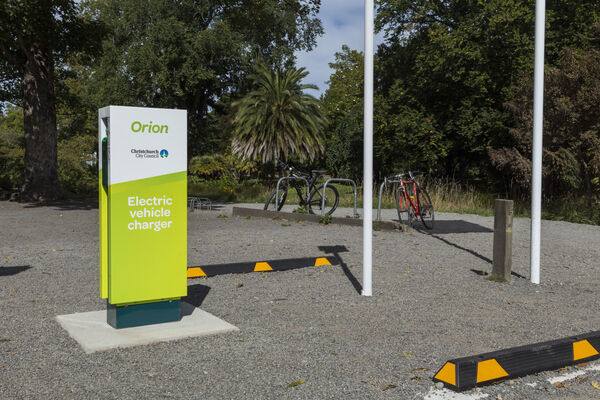 Orion EV charger in the Botannical Gardens